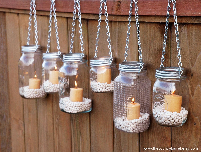 Mason jar candle holders 221 upcycling ideas that will for Mason jar holder ideas