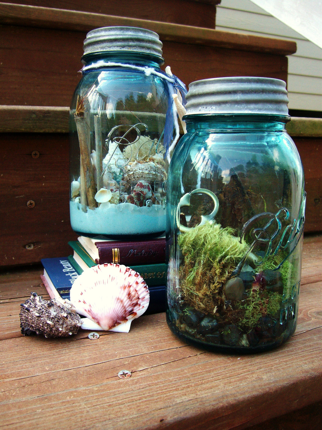 Using A Mason Jar To Store The Plant Arrangement Is A Nice Twist On