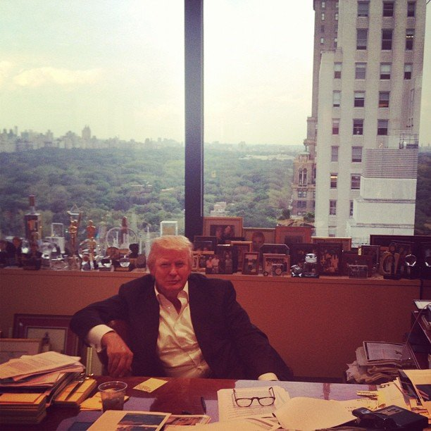 Ivanka Trump captured a photo of Donald Trump at work. Source: Instagram user ivankatrump