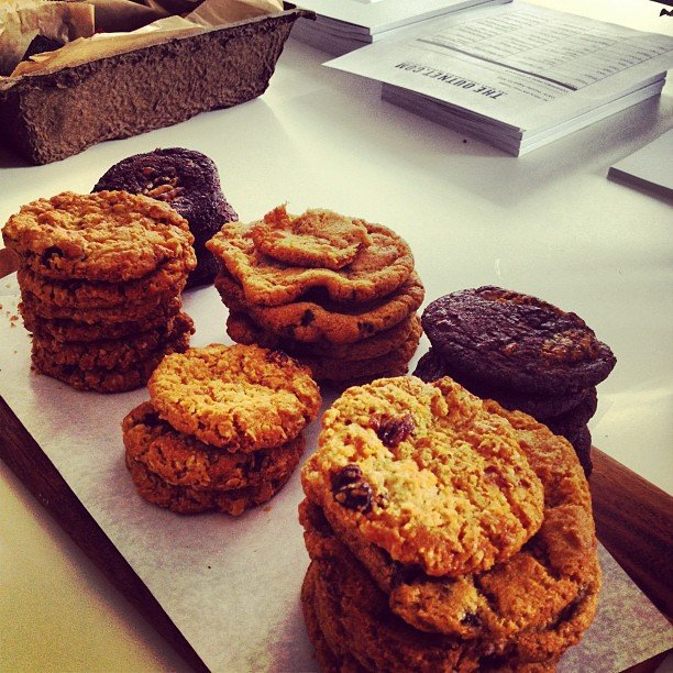 A cookie a day is our motto. We snacked on these yummy treats during a visit to The Outnet's showroom.