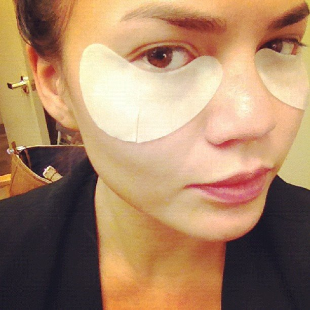 Model Chrissy Teigen showed her fondness for SK-II eye masks with this pic.