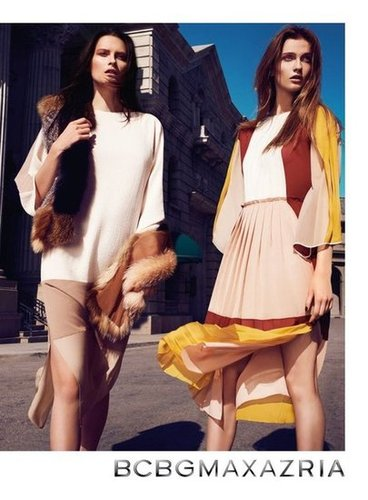 Plush fur stoles look ultraluxurious against colorblocked silks and billowy dresses.