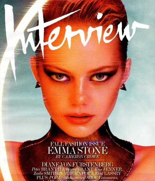 Emma Stone on the Cover of Interview, Lara Stone and Alexander Skarsgard Steam it Up for Calvin Klein
