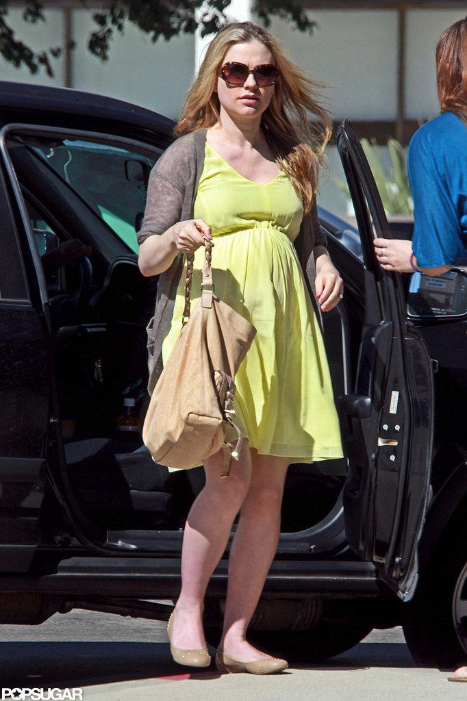 Pregnant Anna Paquin hung out in LA.