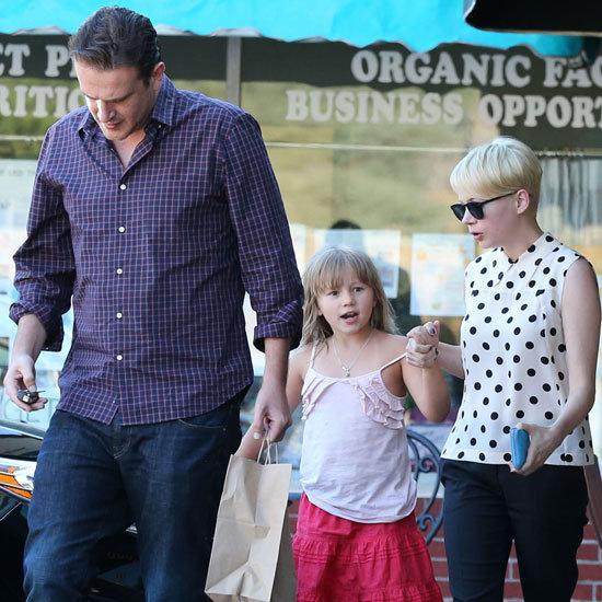 Michelle Williams and Jason Segel Take Matilda to Ice Cream