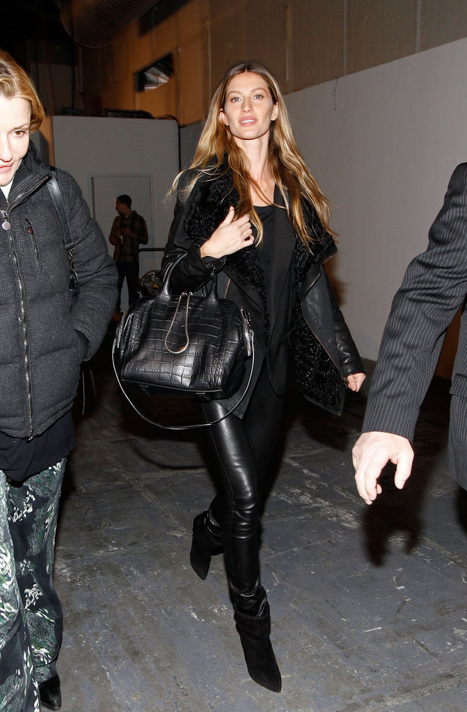 Gisele Bundchen pranced backstage at Alexander Wang in February.
