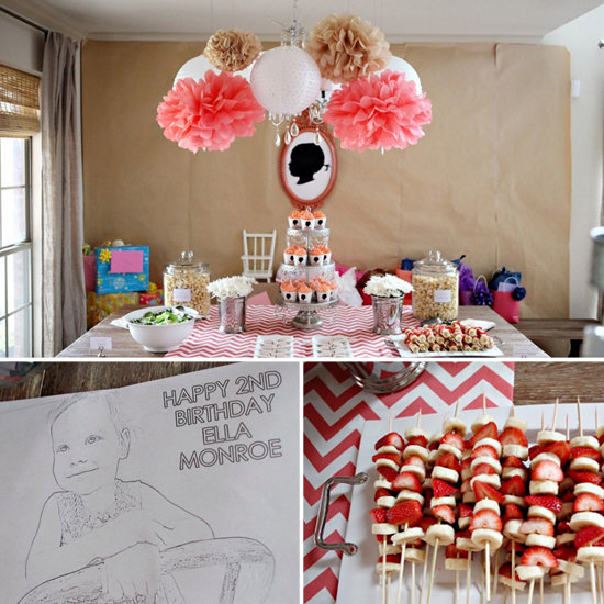 A Stylish, Chevron-Silhouette Second Birthday Party