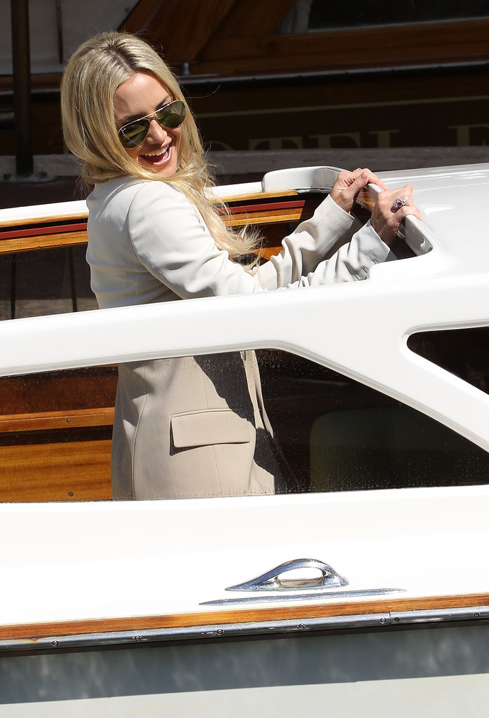 Kate Hudson Goes Casual, Then Businesslike at Venice