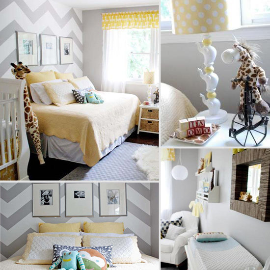 Baby Giacomo's Yellow-and-Gray Chevron Nursery