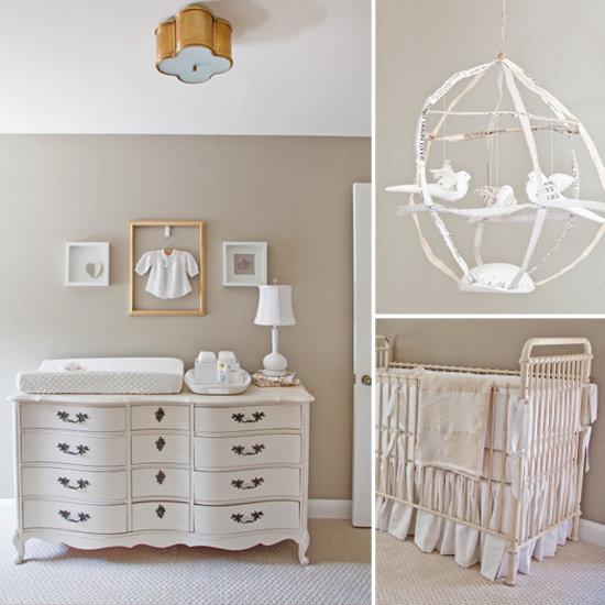 A Serene, Dreamy Nursery For Twins