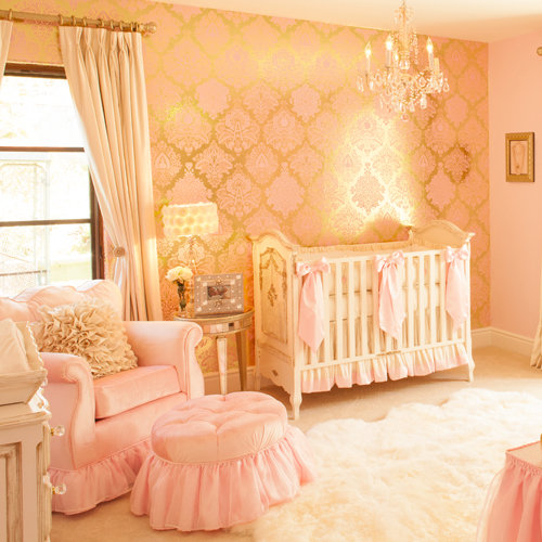 Pink Baby Girl Nursery: Pink And Gold Glam Nursery