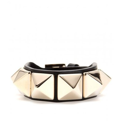 mytheresa.com - Valentino - ROCKSTUD LEATHER ARMBAND - Luxury Fashion for Women / Designer clothing, shoes, bags