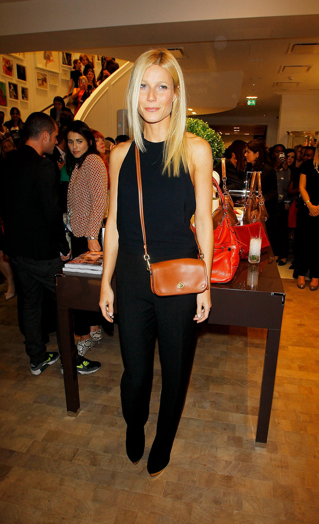 Gwyneth Paltrow helped host a Coach afterparty at the brand's London store in 2011.