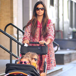 Camila Alves Wearing Printed Tunic