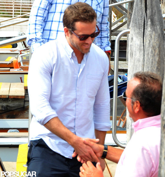 Ryan Reynolds thanked someone in Venice.