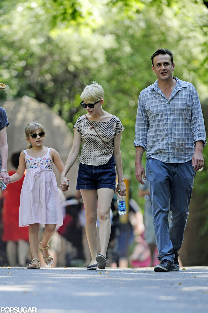 Matilda Ledger hung out with Jason Segel and Michelle Williams at the zoo.