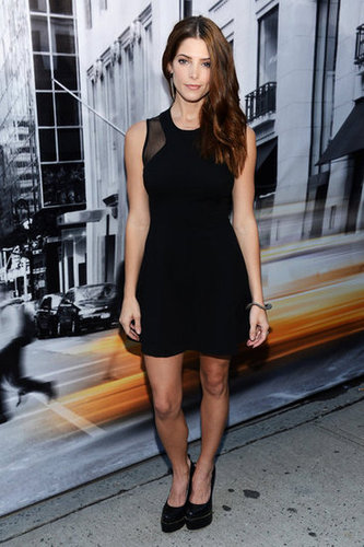 As the face of the brand's Fall campaign, Ashley Greene donned DKNY — a sexy LBD, at that — for the show.