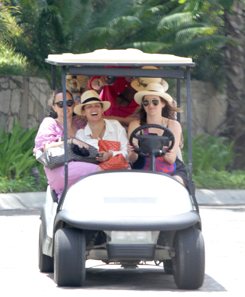 Nicole Richie and friends went on a wild golf cart adventure while logging girls' time in Cabo in September 2012.