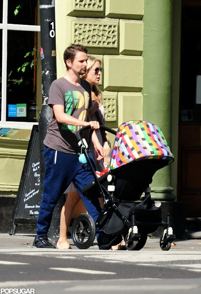 Kate Hudson Goes Casual in Sunny London With Matthew and Bingham