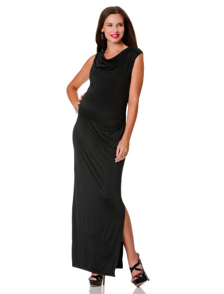 Draping details and a subtle slit make this Sleeveless Maternity Dress ($150) from A Pea in the Pod a Fall must have that can be worn year-round.
