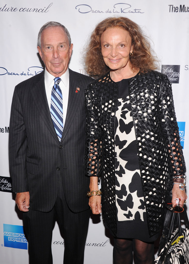 Diane von Furstenberg and Mayor Michael Bloomberg shared a photo.