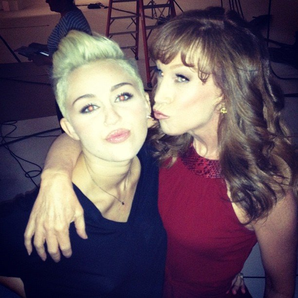 """Kathy Griffin posed with her """"biggest fan"""" Miley Cyrus. Source: Instagram user kathygriffin"""