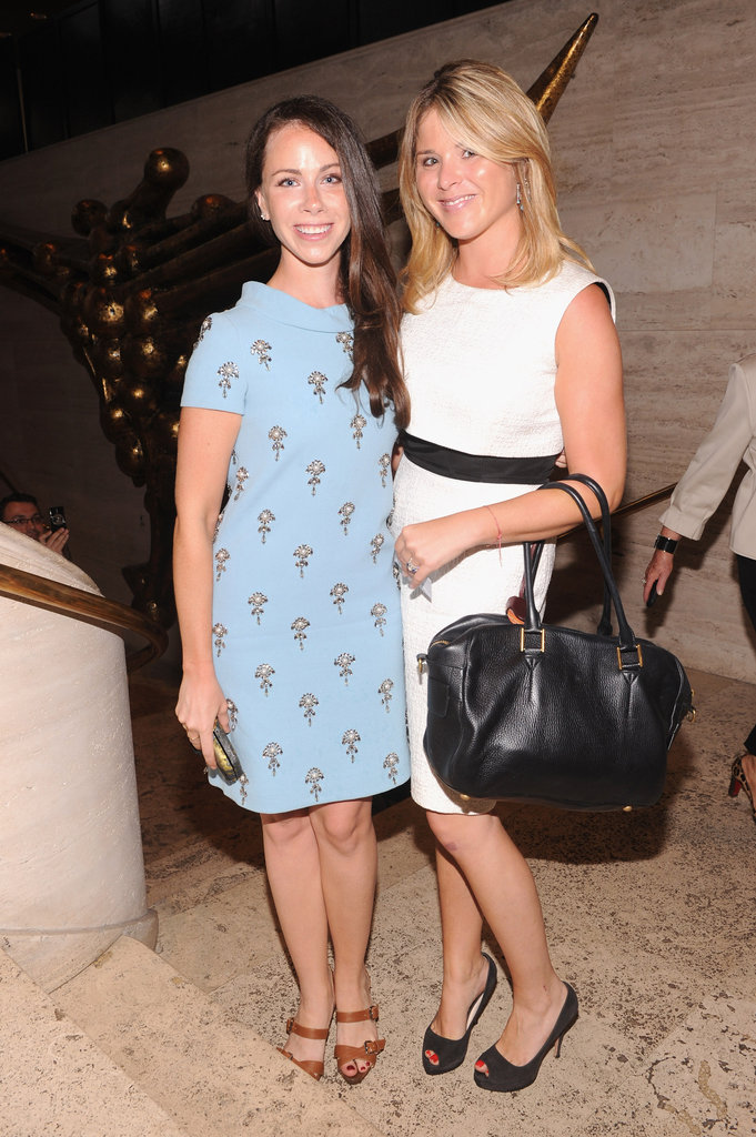 Jenna Hager and Barabra Bush met up for the fashionable event.