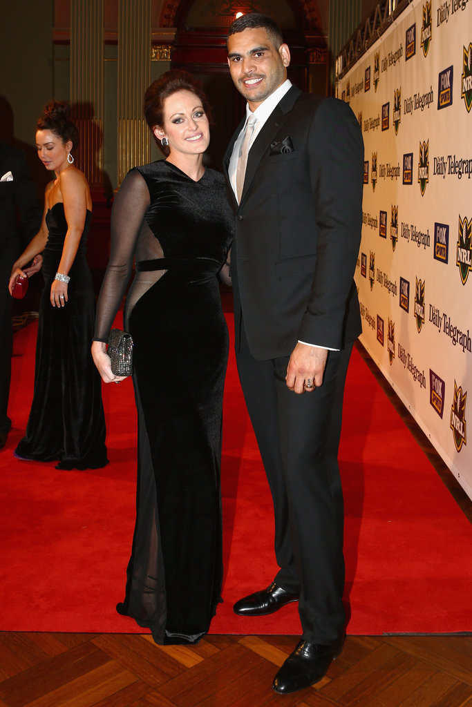 Greg Inglis posed with his wife Sally at the 2012 Dally M Awards.