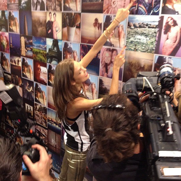 Karlie Kloss and the Wall of Kloss at Juicy Couture