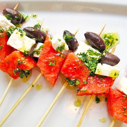 Watermelon and Feta Skewers Recipe