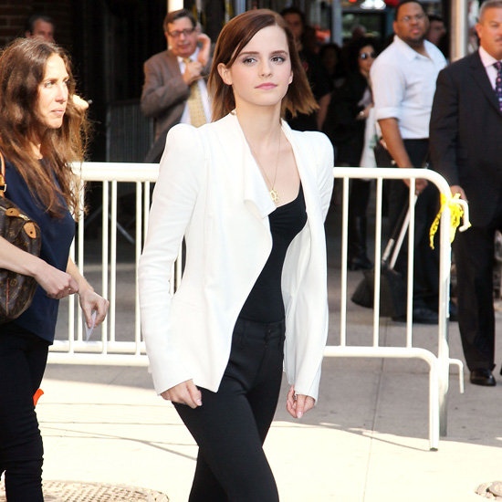 Emma Watson Wearing Chain Sandals