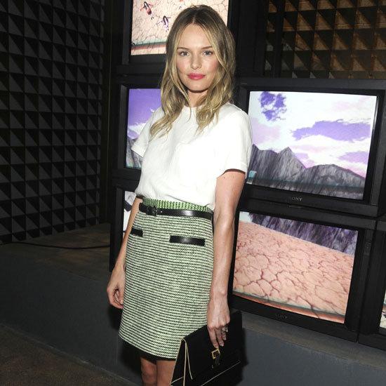 Kate Bosworth Wearing Green Tweed Skirt