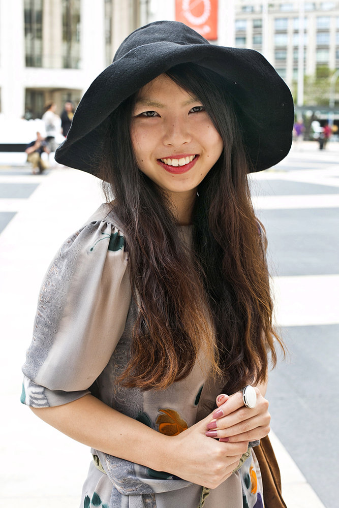 Ombré highlights paired with a floppy hat made for a winning combination.  Photo by Caroline Voagen Nelson