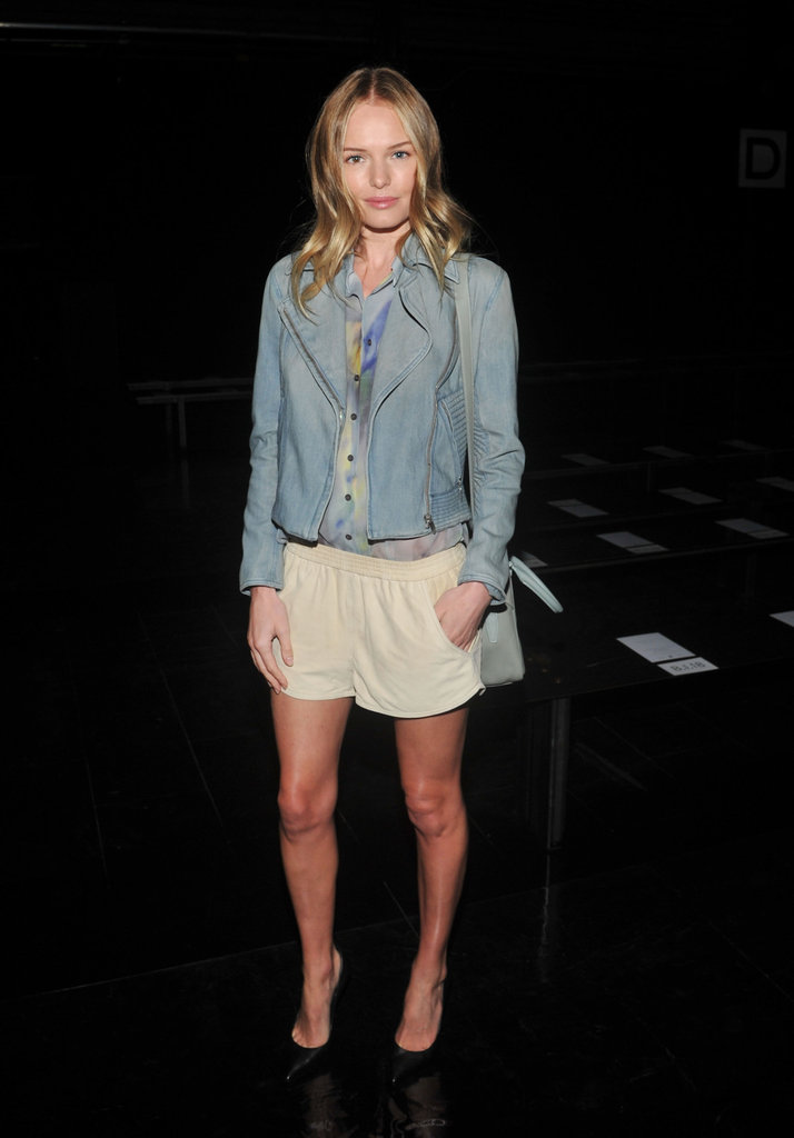 Kate Bosworth made a stylish appearance at the Theyskens' Theory fashion show.