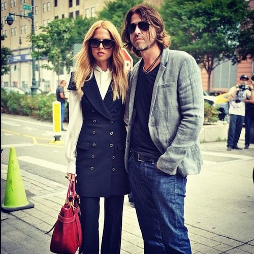 Rachel Zoe stopped to pose with beau Rodger Berman on the streets of NYC. Source: Instagram user netaporter
