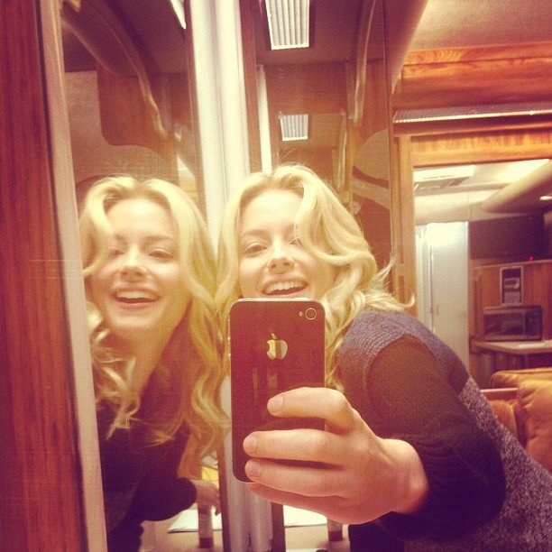 Gillian Jacobs pretended to have an identical twin. Source: Instagram user gillianjacobs