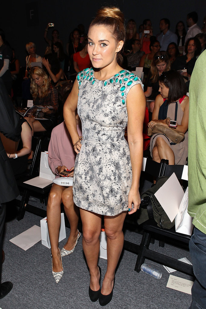 Lauren Conrad at Lela Rose.