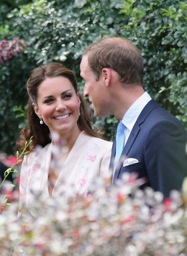Kate flashed a smile at Prince William during a 2012 orchid-naming ceremony in honor of Princess Diana in Singapore.