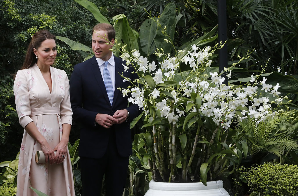 Kate Middleton and Prince William attended an orchid naming ceremony in honour of Princess Diana Singapore.