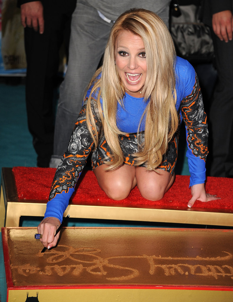 Britney Spears Leaves Her Mark on Hollywood at the X Factor Premiere