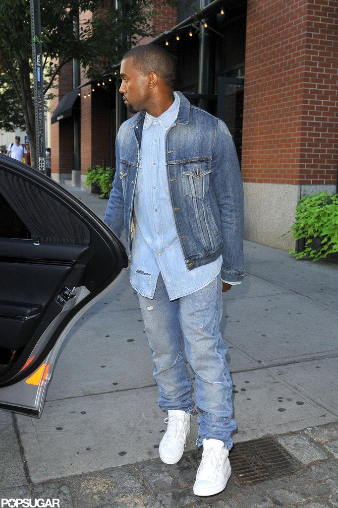 Kanye West held the car door for Kim Kardashian.