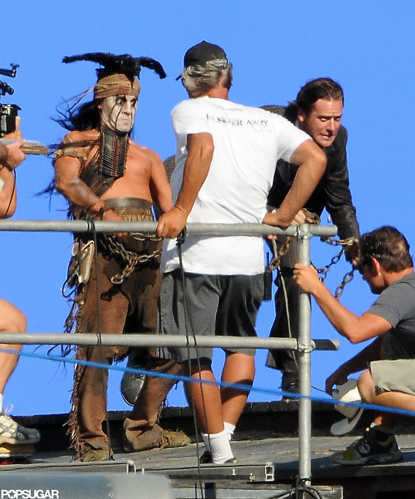Armie Hammer filmed Lone Ranger with Johnny Depp.