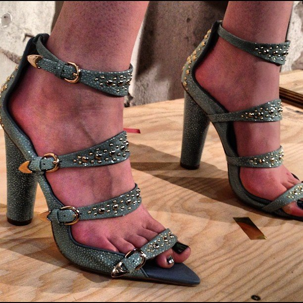 We were crazy about these embellished heels at Cynthia Rowley.