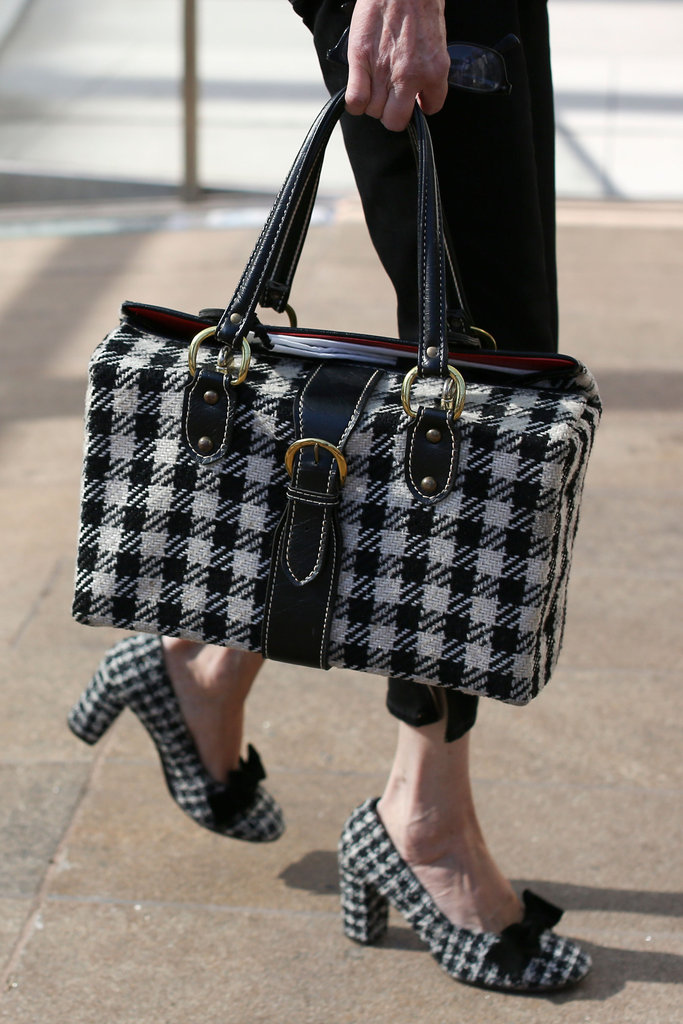 Houndstooth on houndstooth, a fitting Fall play on print on print.
