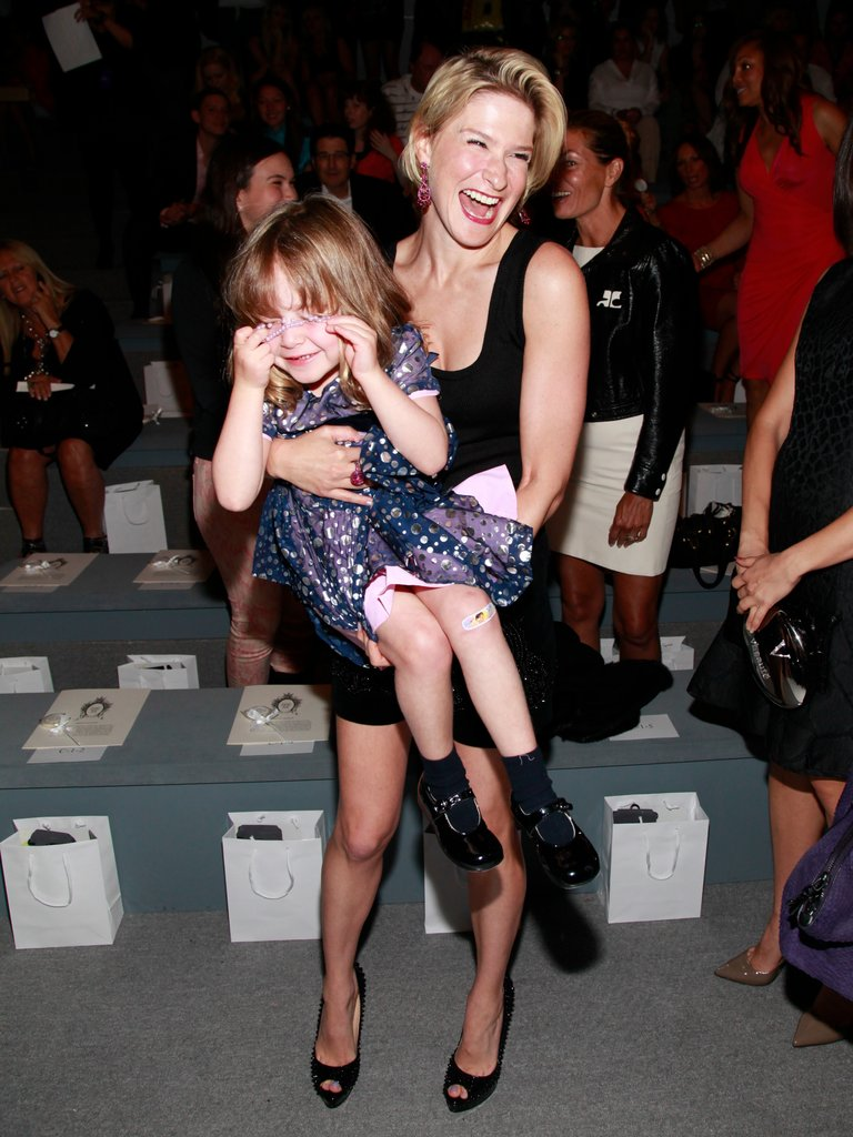 Julie Macklowe, an investor in several fashion businesses, brought her daughter Zoe to the Zang Toi show.