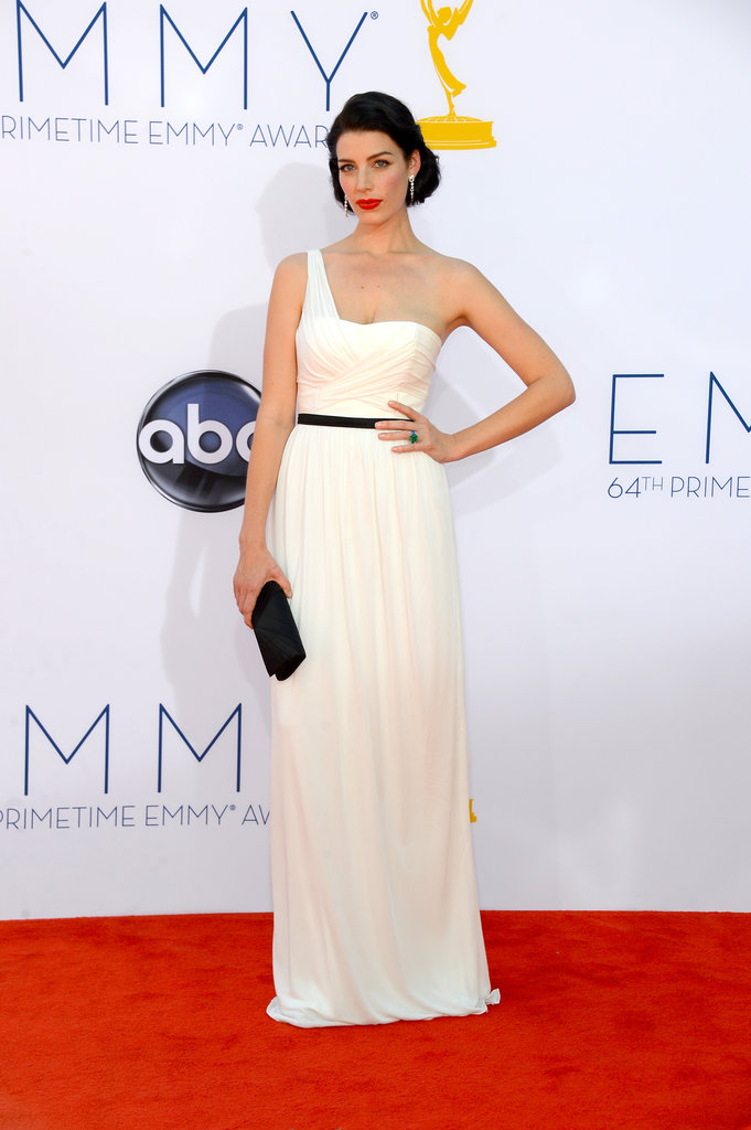 Jessica Paré wore a white Jason Wu number to the Emmys.