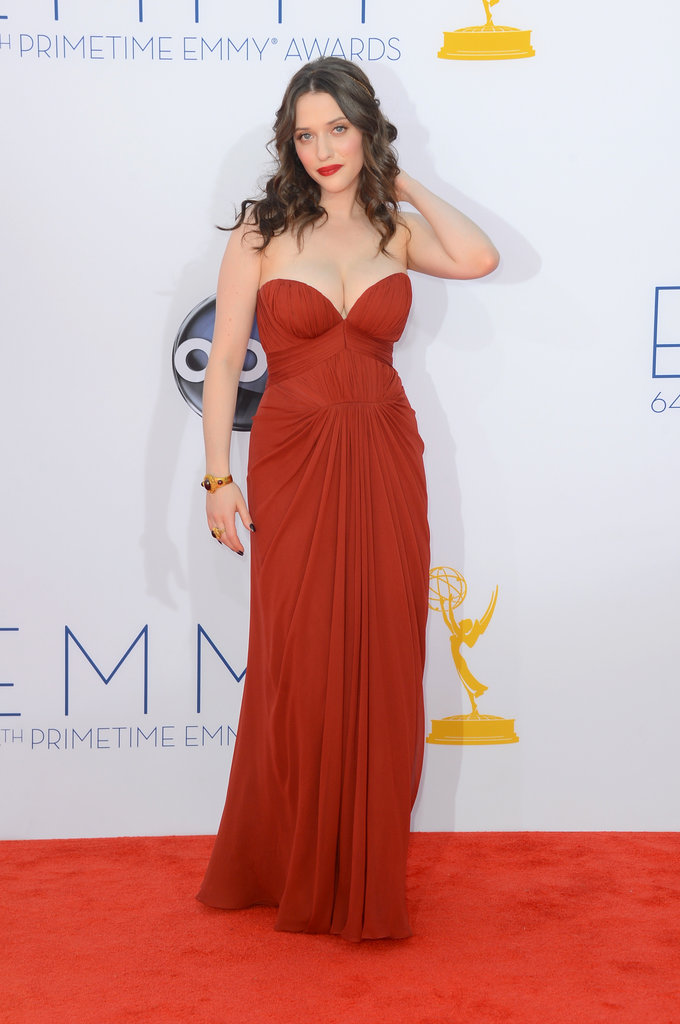 Kat Dennings posed on the red carpet.