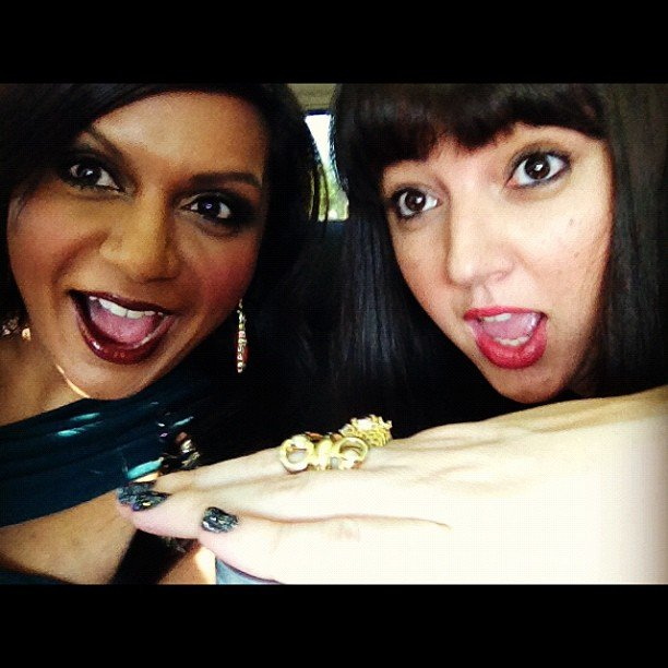 Mindy Kaling brought her friend Sophia Rossi as her date.  Source: Instagram user mindykaling
