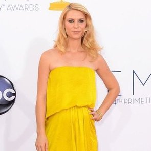 Pregnant Claire Danes Pictures in Yellow Lanvin at 2012 Emmys