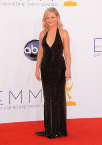 Amy Poehler Pictures at 2012 Emmy Awards in Low-Cut Stella McCartney Gown
